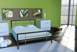 Łóżko metalowe Pariti