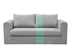 Sofa dwuosobowa MONTE szary/miętowy