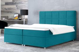 Łóżko kontynentalne NAZARE niebieskie casablanca