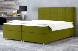 Łóżko kontynentalne NAZARE zielone casablanca