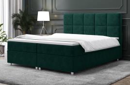 Łóżko kontynentalne NAZARE zielone monolith