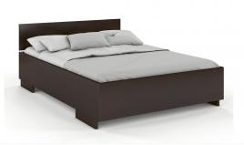 Łóżko drewniane sosonowe z pojemnikiem BERAM palisander