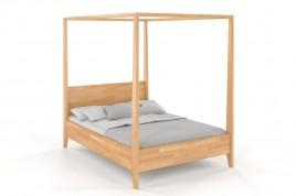 Łóżko drewniane Klara z baldachimem- buk