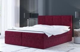 Łóżko kontynentalne MOLDE czerwone monolith