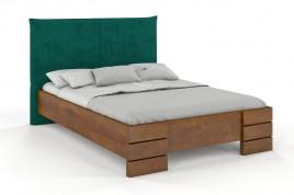 Łóżko drewniane SANTA z tapicerowanym zagłówkiem dąb