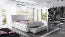 Łóżko tapicerowane Bristol z pojemnikiem