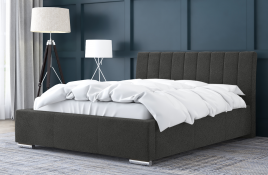 Łóżko tapicerowane SAGRES ciemnoszare casablanca