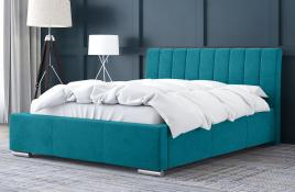 Łóżko tapicerowane SAGRES niebieskie casablanca
