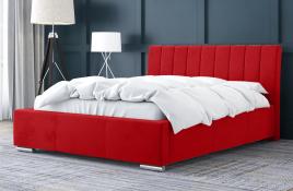 Łóżko tapicerowane SAGRES czerwone casablanca