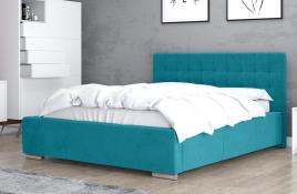 Łóżko tapicerowane SINES niebieskie casablanca