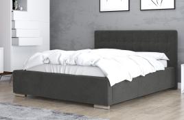 Łóżko tapicerowane SINES ciemnoszare casablanca