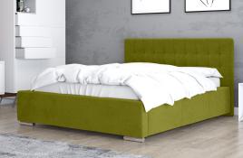 Łóżko tapicerowane SINES zielone casablanca