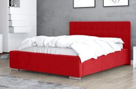 Łóżko tapicerowane SINES czerwone casablanca