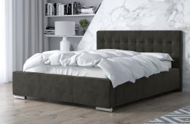 Łóżko tapicerowane SINES ciemnoszary monolith