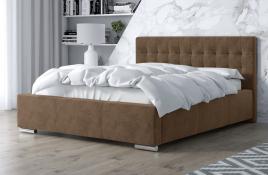 Łóżko tapicerowane SINES beżowe monolith