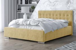 Łóżko tapicerowane SINES ecru monolith