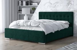 Łóżko tapicerowane SINES zielony monolith