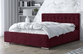 Łóżko tapicerowane SINES czerwony monolith
