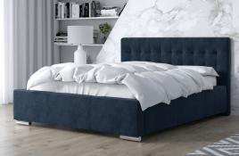 Łóżko tapicerowane SINES granatowe monolith