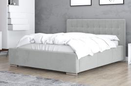 Łóżko tapicerowane SINES szare casablanca