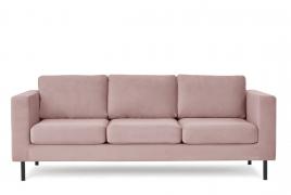 Sofa trzyosobowa TORONTO różowy