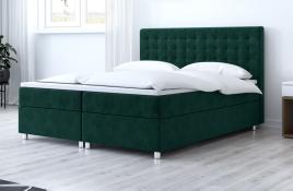 Łóżko kontynentalne TROMSO zielone monolith