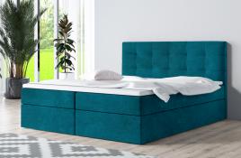 Łóżko kontynentalne ASKIM niebieskie casablanca