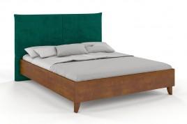 Łóżko drewniane Xawier z tapicerowanym zagłówkiem Buk