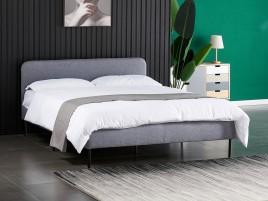 Łóżko tapicerowane BERGEN szary