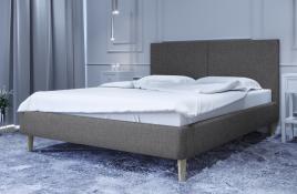 Łóżko tapicerowane SINTRA ciemnoszare sawana