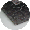 warstwa filcu tapicerskiego