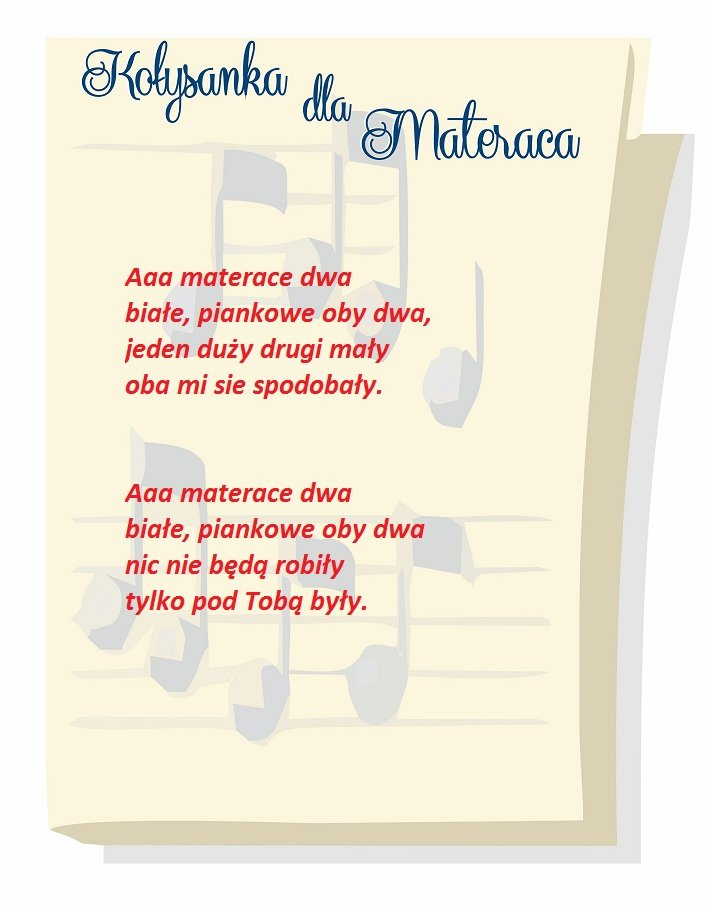 Kołysanka dla Materaca - 3 miejsce